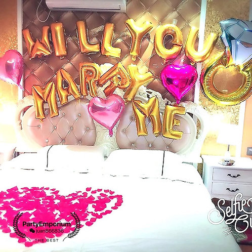 Bed Room Surprise Propose Decoration