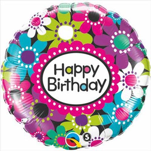 Qualatex Balloons Birthday Daisy Patterns 45cm