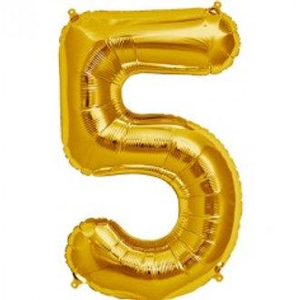 Megaloon Number 5 Jumbo 34″ (GOLD,SLIVER,BLUE,HOTPINK,ROSEGOLD)