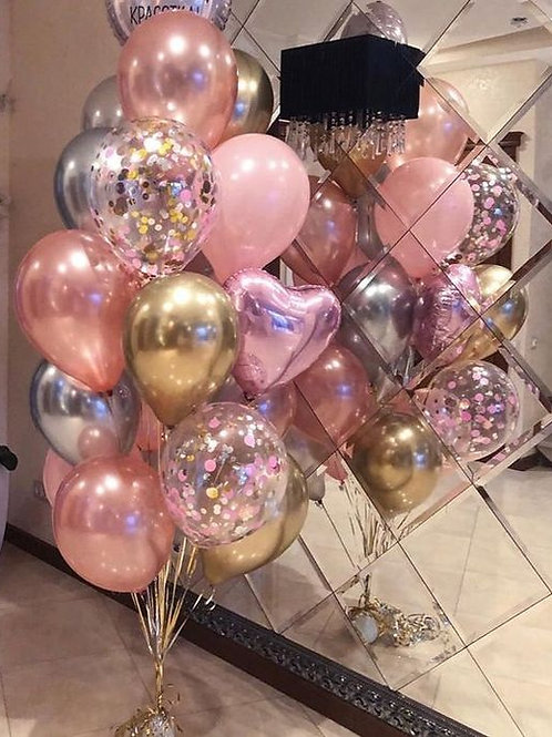 Pink Valentine Bouquet of 20Balloons  Helium Filled