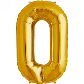 Megaloon Number 0 Jumbo 34″(GOLD,BLUE,SLIVER,HOTPINK,ROSEGOLD)