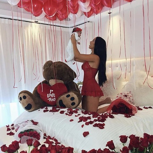 50 Loose Helium Filled Balloon -Red