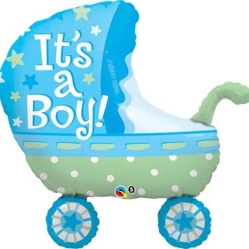 Its A Boy baby Stroller Foil Helium shape 88cm
