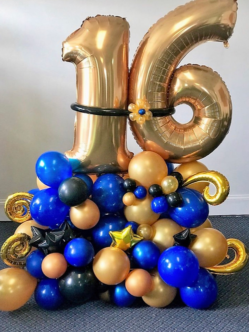 Birthday number design balloon set -3 business day notices required