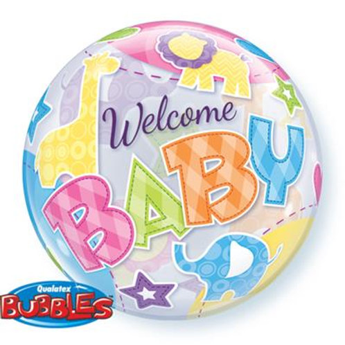 Welcome Baby Animal Pattern Bubble 55cm