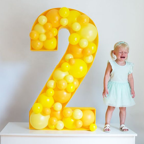 Balloon filled  letter & number-3 business days notice required