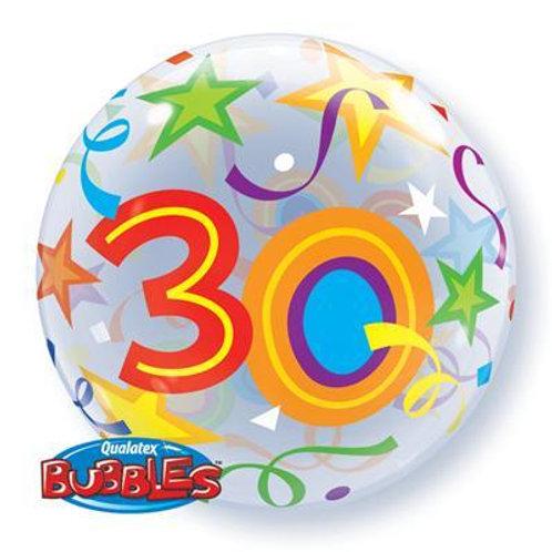 30 Brilliant Stars Bubble 55cm