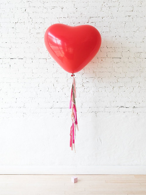 Giant Red Heart Balloon with Tassel