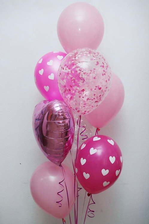 Lovely pink balloon bouquet  of 8