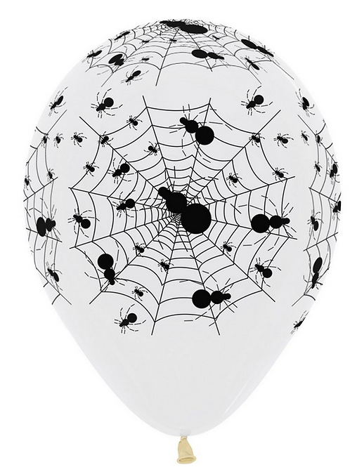 Spider Crystal Clear 30cm Latex Balloon