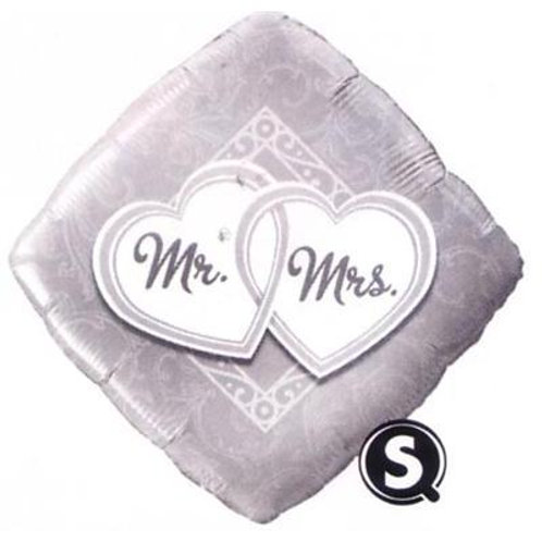 Qualatex Balloons Mr & Mrs Entwined Hearts 45cm