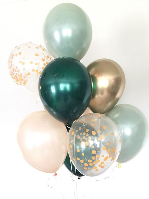 Bouquet of 9 Sage Green Balloons