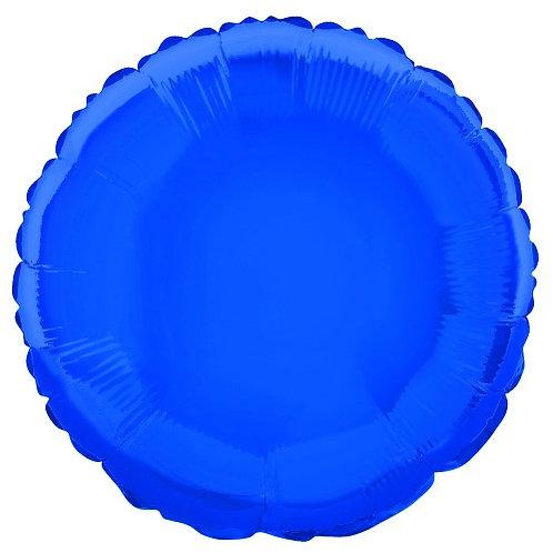 "ROYAL BLUE ROUND 45cm (18"") FOIL BALLOON"