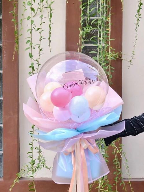 Flowerlloon - Clear Bubble bouquet