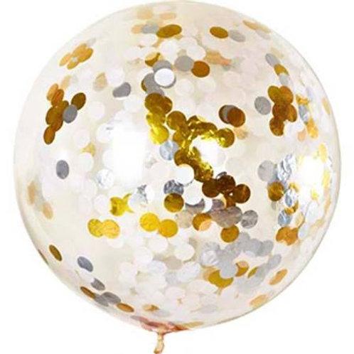 Gold Foil Mix 90cm Confetti Balloon