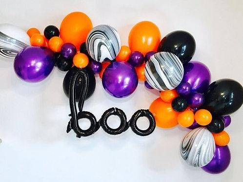 Halloween Balloon Garland-marble