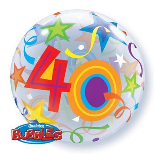 40 Brilliant Stars Bubble 55cm