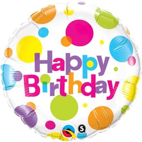 Qualatex Balloons Big Polka Dots Birthday 45cm
