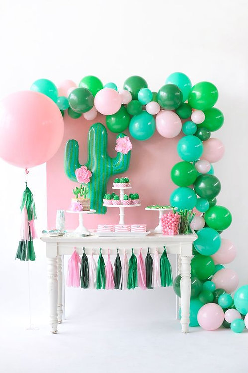 Pink and green cactus party Decoration