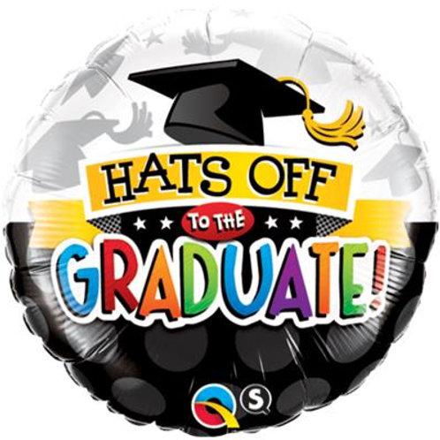 Qualatex Foil Hats Off to the Graduate 45cm