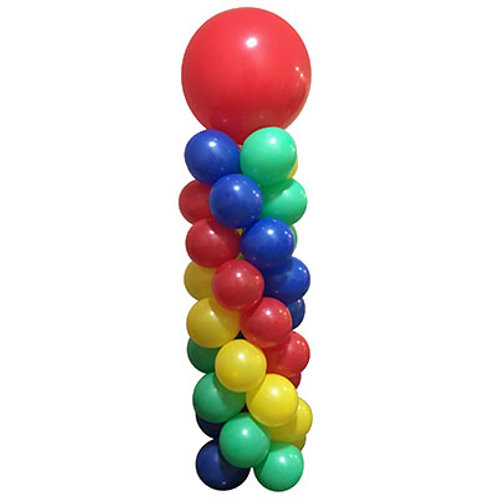 Balloon Column 6ft Tall,  With 3ft Topper