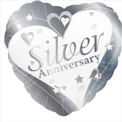 Silver Anniversary 25th 45cm 25 years