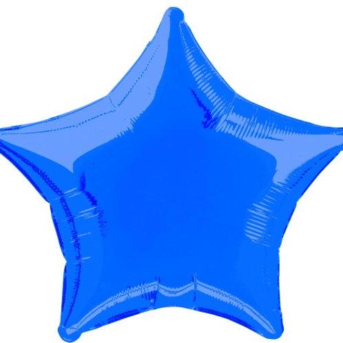 "ROYAL BLUE STAR 50cm (20"") FOIL BALLOON"