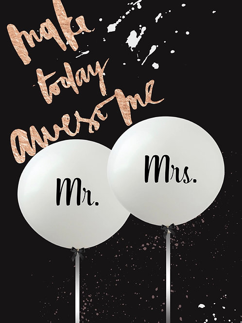 90cm Mr.&Mrs latex balloon