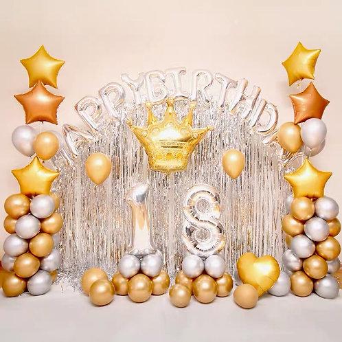Gold theme Birthday balloon party set
