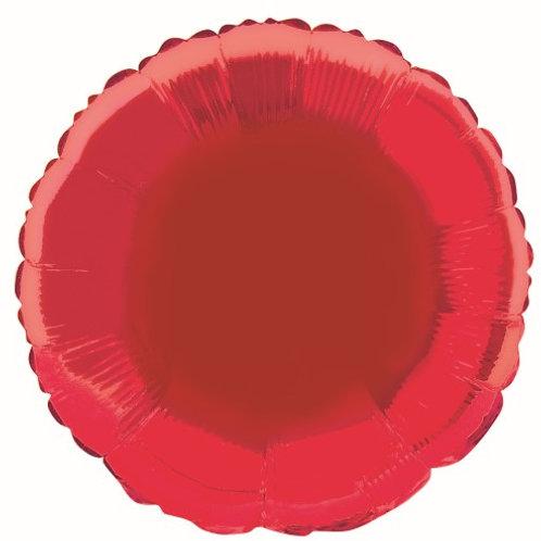 """RED ROUND 45cm (18"""") FOIL BALLOON"""