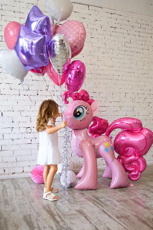 Foil Ponny Balloon set (helium filled)