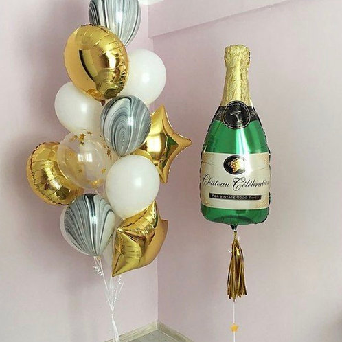 Champagne Foil Set (Helium filled)