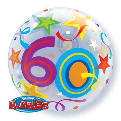 60 Brilliant Stars Bubble 55cm