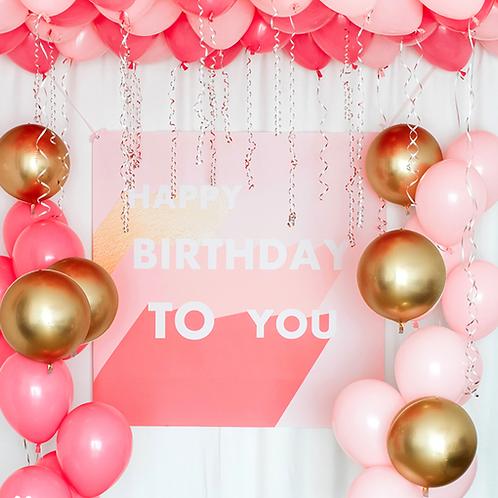 Pink Champagne Balloon Set