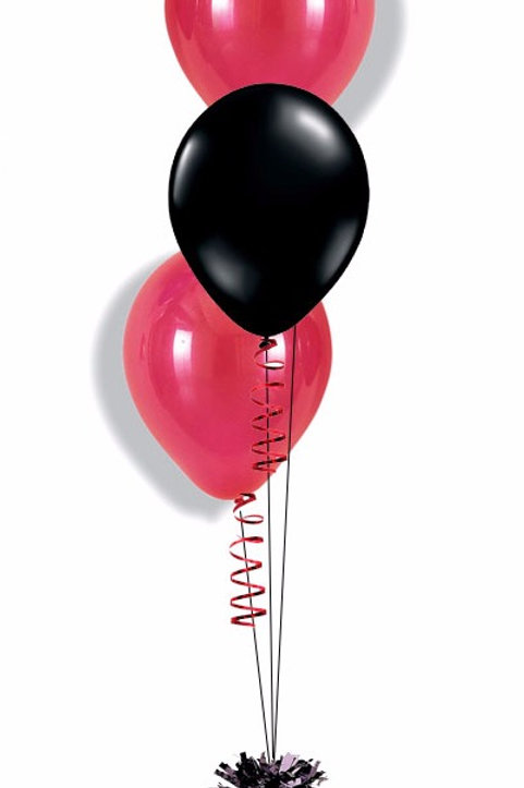 Bouquet of 3 balloons -Plain color with weight(Helium Filled)