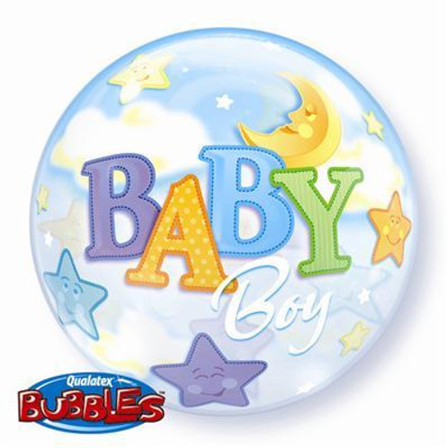 Baby Boy Moon & Stars Bubble 55cm