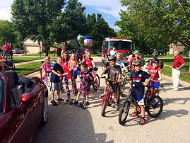 4th of July bike participants