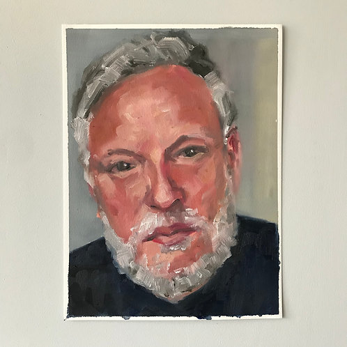 Portrait of Rankin - Oil on Arches Oil paper