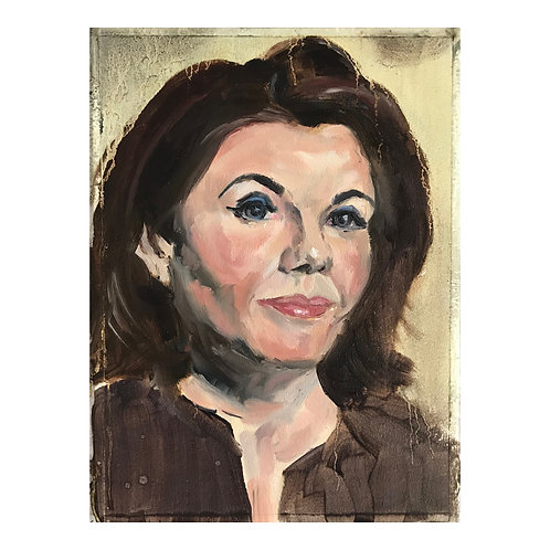 Caitlin Moran - Head Study - Oil On Arches Oil Paper