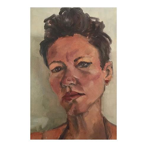 Studio Self Portrait - Oil on Arches Oil Paper