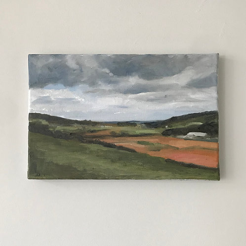 View to Clevedon - Isolation Walks - Oil on Canvas