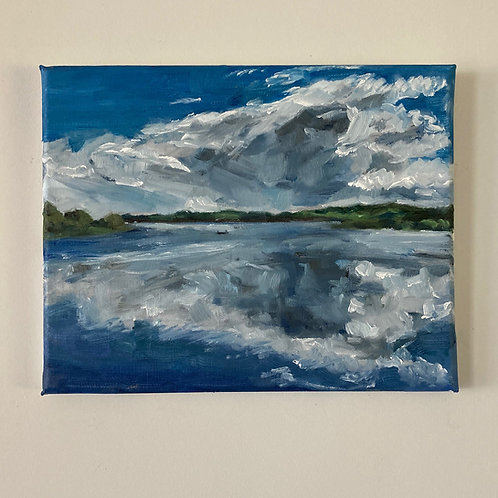 The Mirror - Chew Valley Lake -  Oil on Canvas