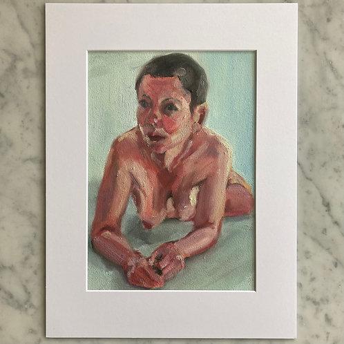 Self Portrait Day - Oil on Arches Oil Paper