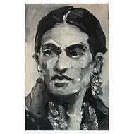Frida Kahlo - Black and White Head Study
