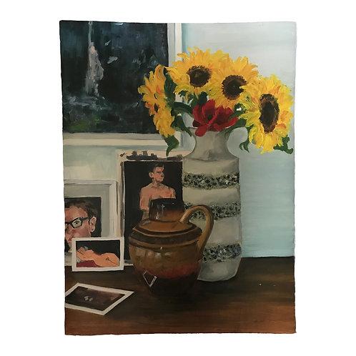 Still Life Self Portrait - Oil on Arches Oil Paper