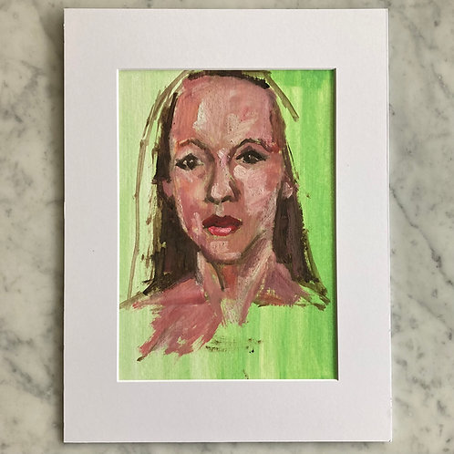 Mariangela - Oil on Arches Oil Paper Pad