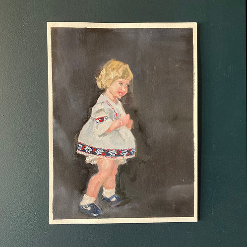 My Best Dress - Self Portrait from Childhood