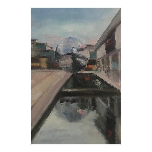 Glitterball (Millennium Square, Bristol)  - Oil on Arches Oil Paper