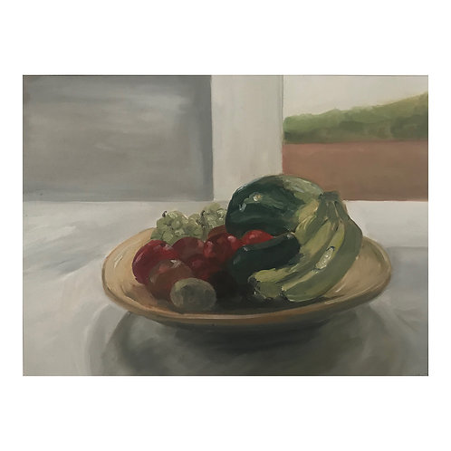 Fruit Bowl  - Oil on Arches Oil Paper