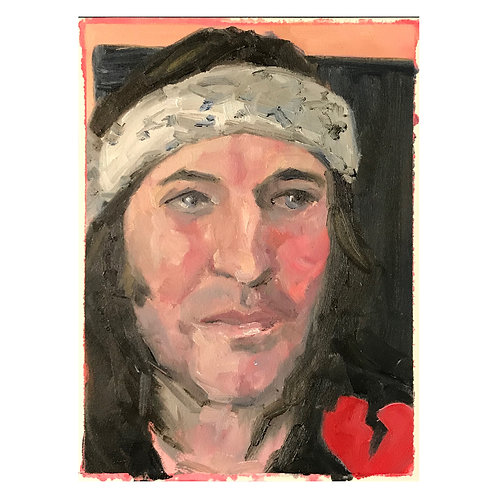 Portrait of Noel Fielding - Oil on Arches Oil paper